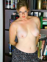 Moms nude in glasses
