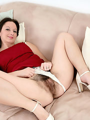 Pussy hairy white panties